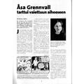 SI120 Åsa Grennvall tarttui vaiettuun aiheeseen