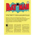 SI157 BATMAN syntymyyttien alkulähteillä