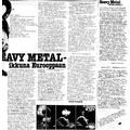 SI29 Heavy Metal - ikkuna Eurooppaan