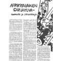 SI57 Afrikkalainen sarjakuva- naamioita ja peruukkeja