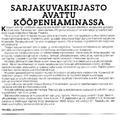 SI75 Sarjakuvakirjasto avattu Kööpenhaminassa