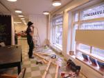 Ikkunagalleria Ruutu rakentumassa gallerian yhteyteen